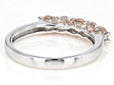 Moissanite Platineve And 14k Rose Gold Over Silver Ring .80ctw DEW