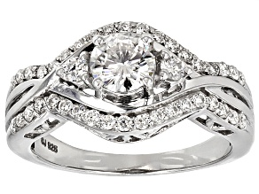 Moissanite Ring Platineve™ 1.30ctw DEW
