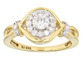Moissanite 14k Gold Over Sterling Silver Ring 0.63ctw DEW