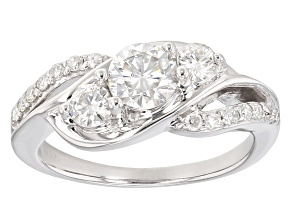 Moissanite Ring Platineve™ 1.06ctw DEW