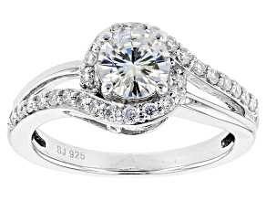 Moissanite Ring Platineve™ 1.08ctw DEW