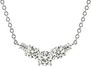 Moissanite Necklace Platineve™ 1.26ctw DEW
