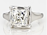 Moissanite Platineve Ring 3.60ct D.E.W