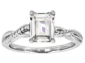 Moissanite Ring Platineve™ 1.75ctw DEW