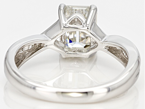 Moissanite Ring Platineve™ 1.75ctw DEW