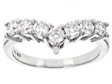 Moissanite Platineve Ring .91ctw DEW