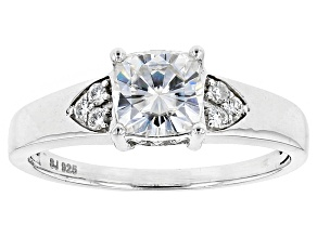 Moissanite Platineve Ring 1.42ctw DEW