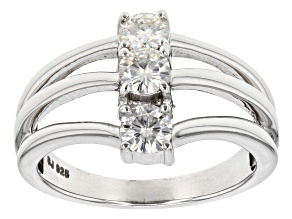Moissanite Platineve Ring .69ctw DEW