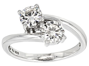 Moissanite Platineve Ring 1.06ctw DEW