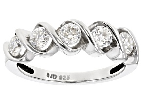 Moissanite Platineve Ring .80ctw DEW