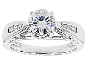 Moissanite Ring Platineve™ 1.34ctw DEW