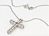 Moissanite Cross Pendant Platineve™ 1.43ctw DEW