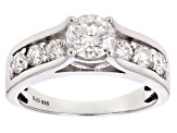 Moissanite Ring Platineve™ 1.78ctw DEW