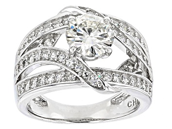 Picture of Moissanite Platineve Ring 1.76ctw D.E.W