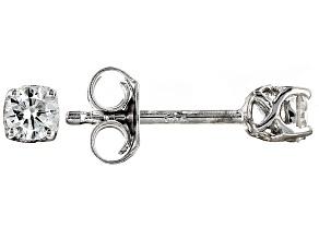 Moissanite Platineve Earrings .32ctw D.E.W