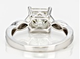 Moissanite Platineve Ring 1.70ct D.E.W