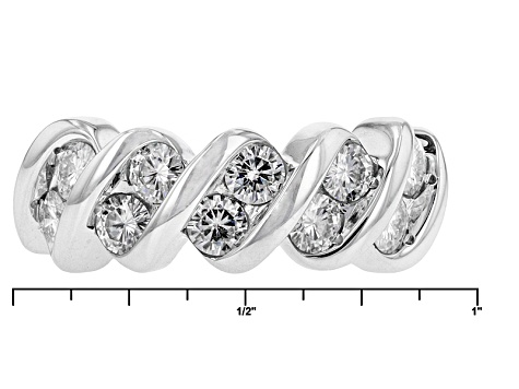 Moissanite Platineve Ring 1.30ctw DEW