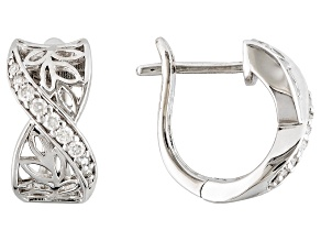 Moissanite Earrings Platineve™ .28ctw DEW
