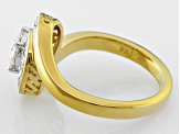 Moissanite 14k Yellow Gold Over Silver Ring 1.12ctw D.E.W