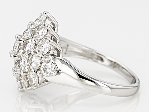 Moissanite Fire® 3.30ctw Diamond Equivalent Weight Round Platineve™ Ring