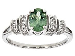 Blue Montana Sapphire White Gold Ring 1.01ctw
