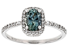 Blue Montana Sapphire 10k White Gold Ring 1.24ctw