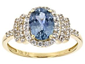 Blue Montana Sapphire 10k Yellow Gold 2.15ctw