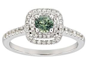 Blue Montana Sapphire 10k White Gold Ring 1.02ctw