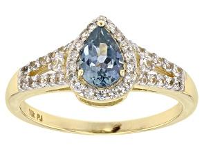 Blue Montana Sapphire 10k Yellow Gold Ring 1.38ctw