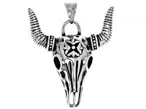 Stainless Steel Bull Mens Pendant