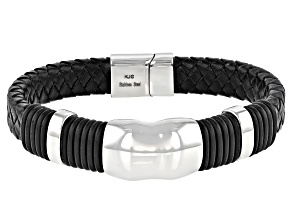 Stainless Steel Mens Cord Bracelet
