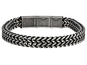 Stainless Steel Wheat Link Mens Bracelet