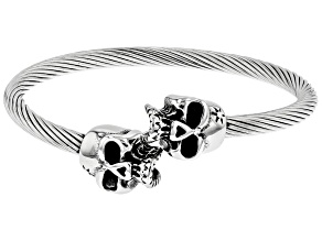 Stainless Steel Mens Skull Bracelet.
