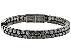 Black Stainless Steel Box Chain Bracelet