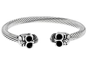 Stainless Steel Skull Mens Bracelet