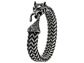 Stainless Steel Wolf Mens Bracelet.