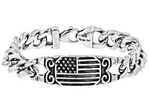 Stainless Steel Patriotic Bracelet