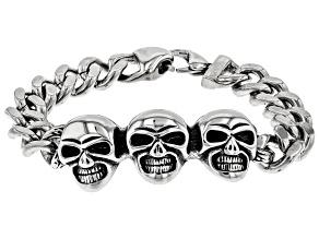 Skull Motif Stainless Steel Bracelet