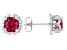 Red Lab Created Ruby Stainless Steel Earrings 1.72ctw