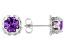 Purple Amethyst Stainless Steel Earrings 1.28ctw