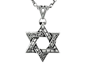 Stainless Steel Star of David Pendant with Chain