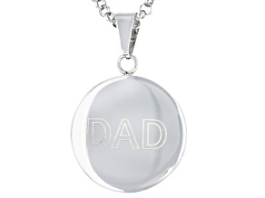 """Stainless Steel """"Dad"""" Pendant with Chain"""