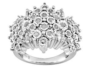 Diamond Rhodium Over Silver Ring .75ctw