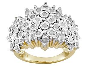 White Diamond Silver Ring .75ctw