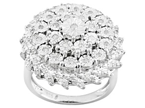 Diamond Sterling Silver Ring .40ctw