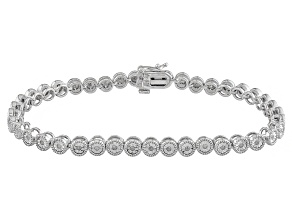 Diamond Sterling Silver Bracelet .25ctw