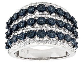 Blue Diamond Sterling Silver Ring .20ctw