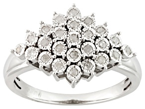 Diamond Silver Ring .20ctw