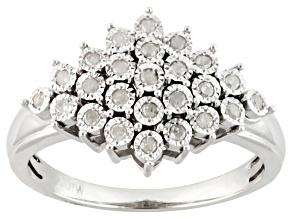 Diamond Silver Ring .20ctw