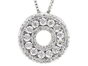 Diamond Silver Pendant .20ctw